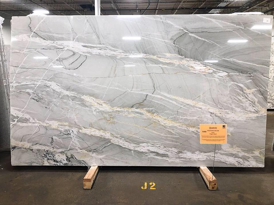 Tahitian Cream Quartzite Slabs White Polished Slabs