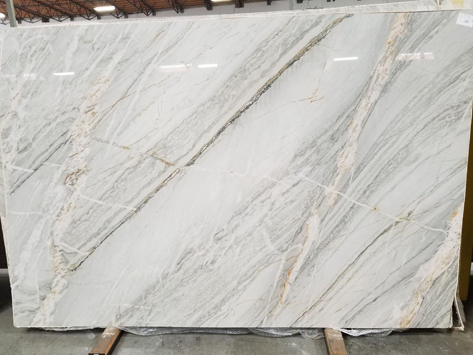 Tahitian Cream Quartzite Slabs from Brazil