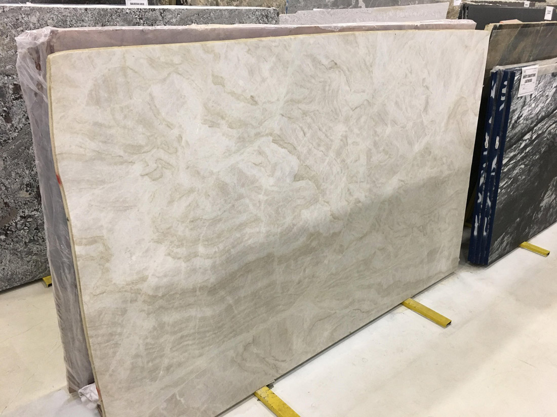 Taj Mahal Leathered Quartzite Slabs Brazilian White Quartzite Slabs