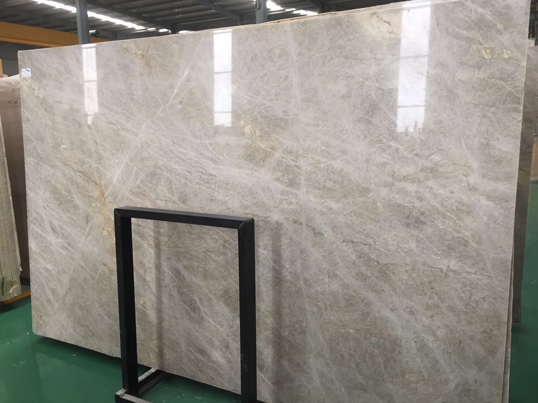 Taj Mahal Natural Leathered Polished Beige Yellow Quartzite Slabs