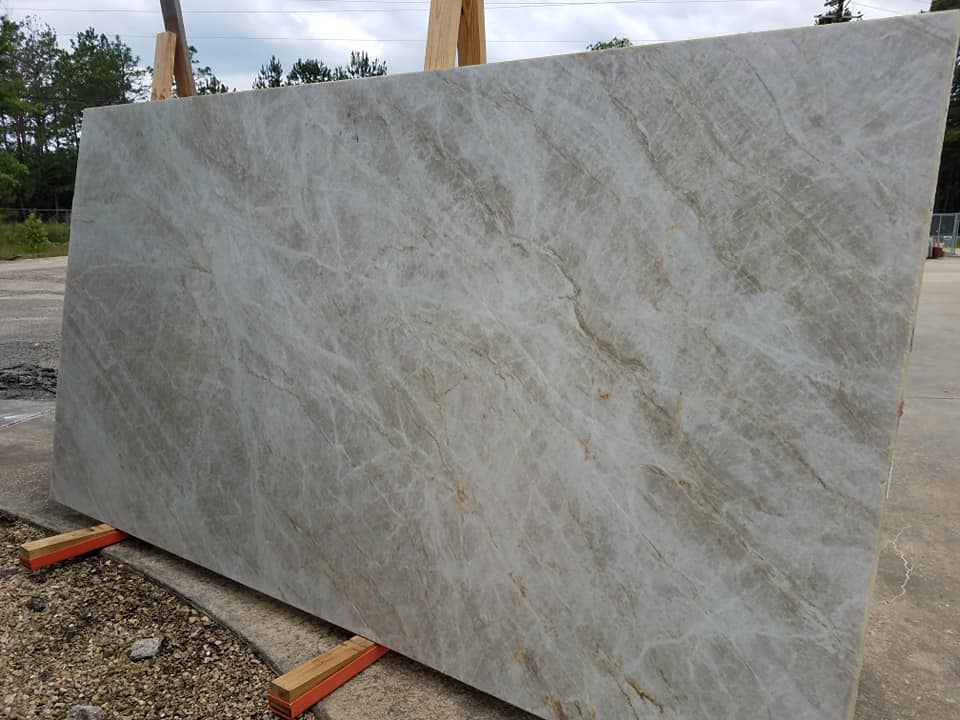 Taj Mahal Quartzite Slabs for Kitchen Countertops