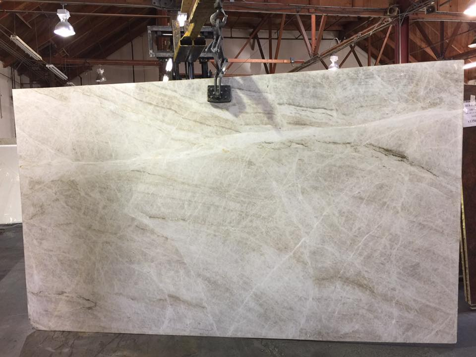 Taj Mahal White Polished Quartzite Slabs
