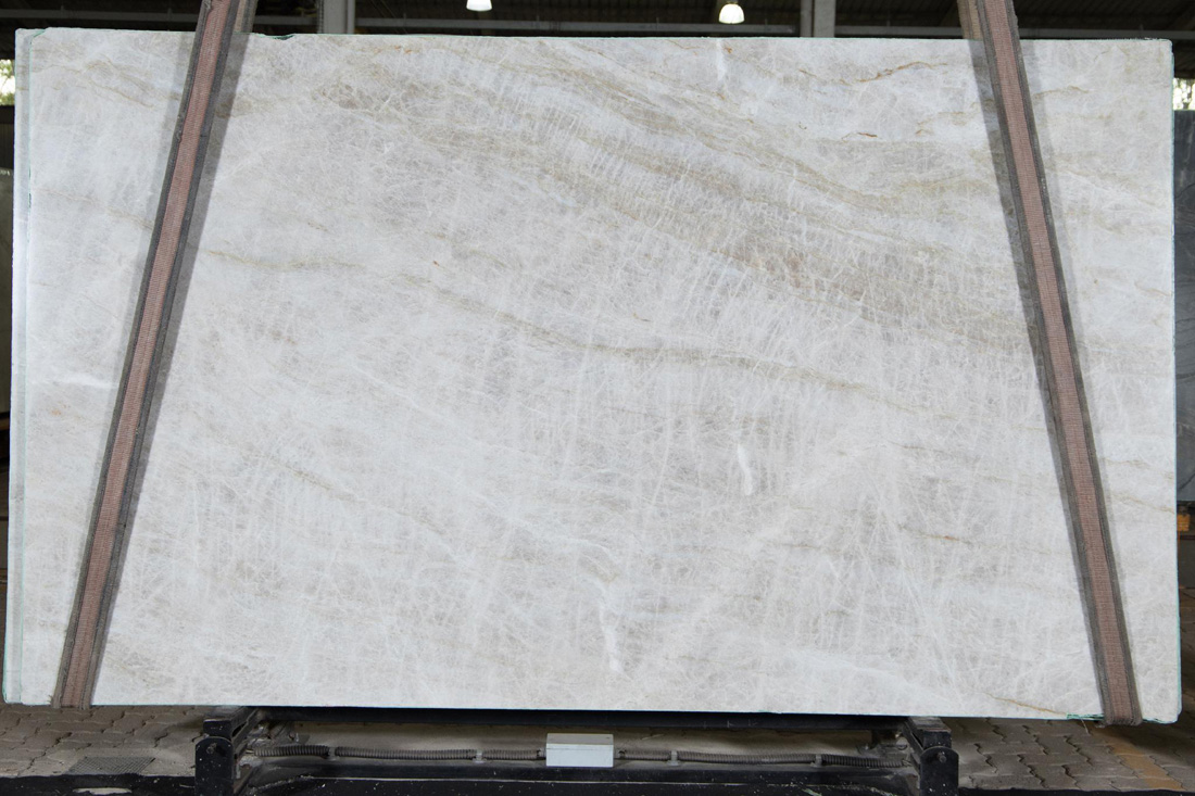 Taj Mahal White Quartzite Slabs Leather Quartzite Slabs