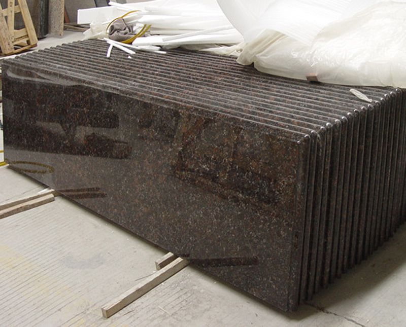 Tan Brown Granite Countertops Polished Granite Countertops for Kitchen and Bathroom