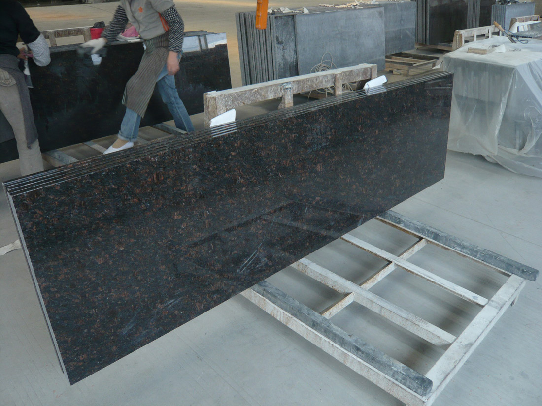 Tan Brown Granite Polished Brown Granite Stone Countertops