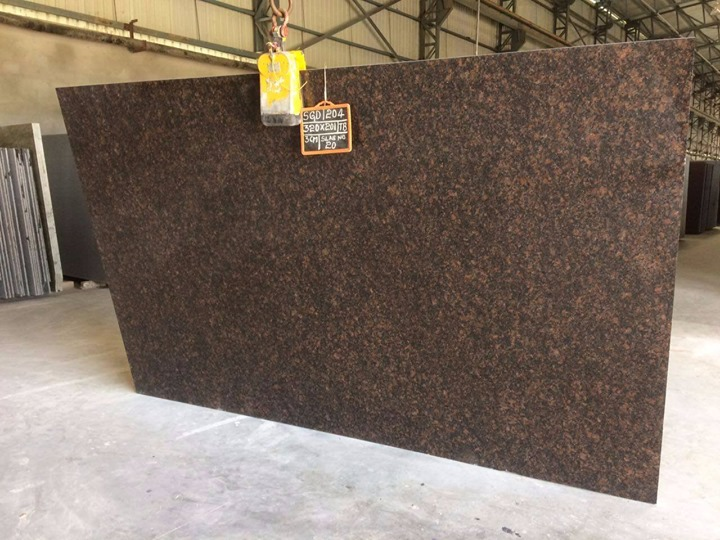 Tan Brown Granite Slabs for Kitchen Countertops