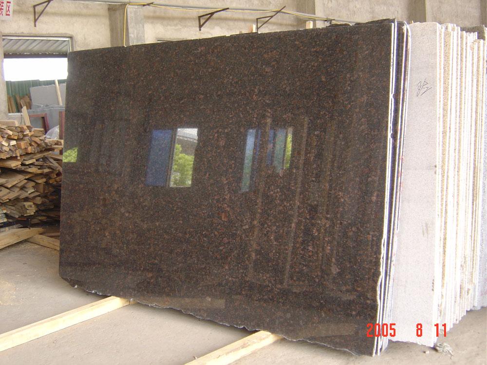 Tan Brown Slabs Polished Brown Granite Slabs