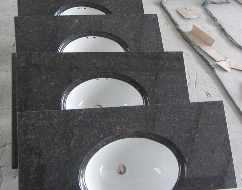 Tan Brown Vanity Tops Polished Brown Granite Vanity Tops