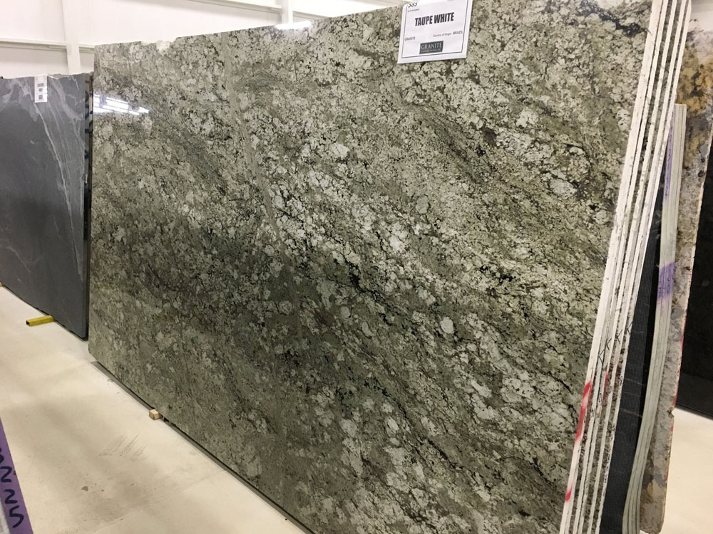 Taupe White Granite Slabs Brazilian Polished Granite Slabs