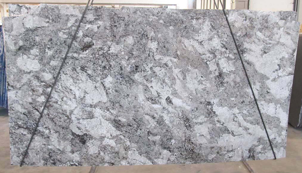 Taupe White Granite Slabs Polished White Granite Slabs