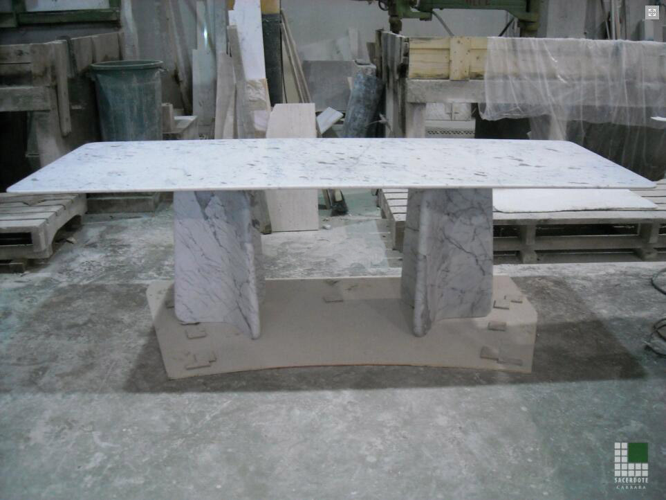 Tavolo in marmo Bianco Carrara Gioia Table Tops