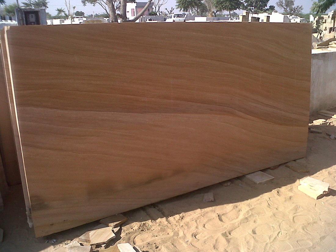 Teakwood Slabs Indian Yellow Sandstone Slabs