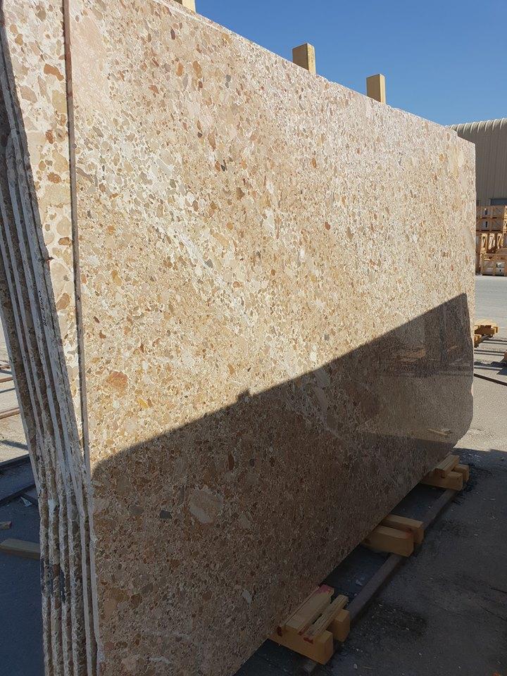 Terrazzo Omani Marble Slabs Yellow Marble Slabs
