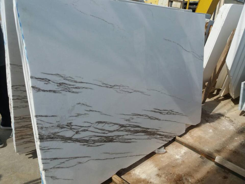 Thassos Imperial Polished Marble White Marble Slabs