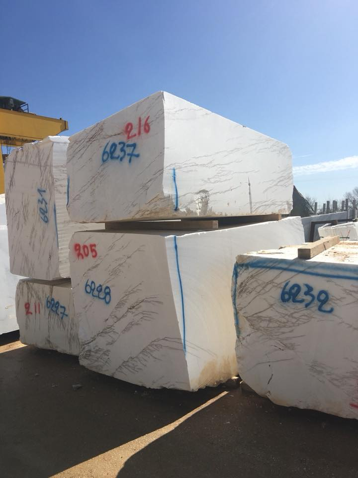Thassos Imperial White Marble Blocks