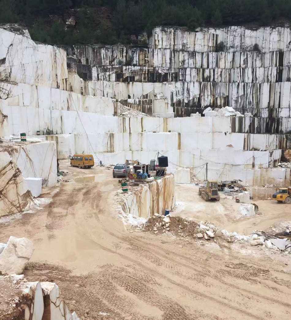 Thassos White Marble Blocks Natural White Stone Blocks from Greek Quarry