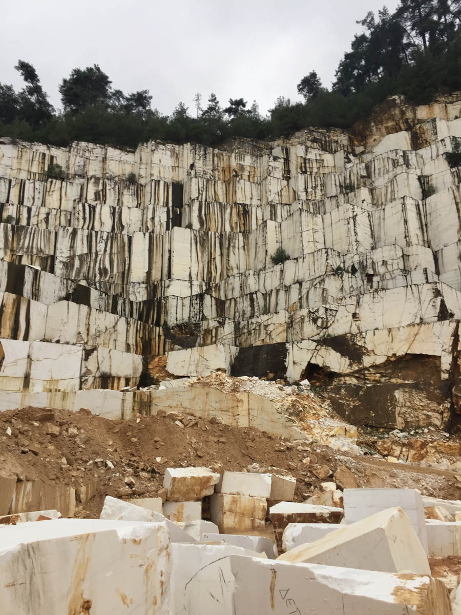 Thassos White Marble Blocks from Greek Marble Quarry