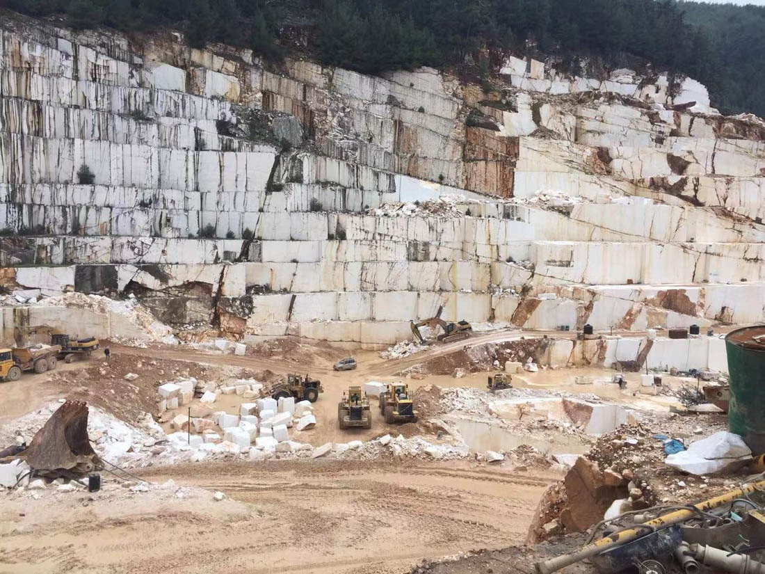 Thassos White Marble Blocks from Greek Quarry