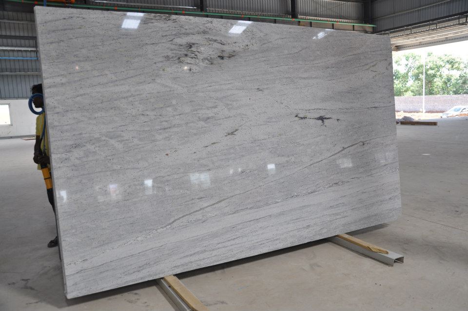 Thunder White Slabs Indian White Granite Slabs