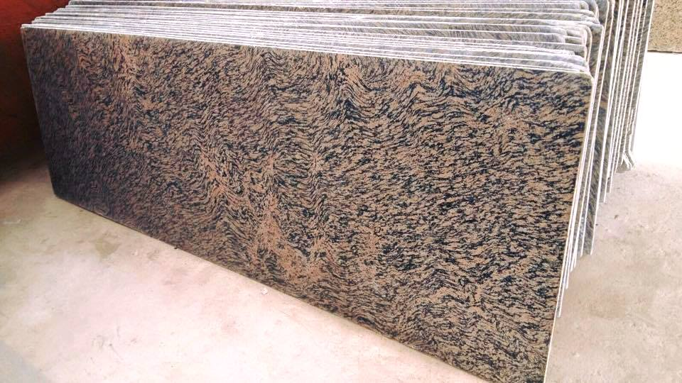 Tiger Skin Granite Stone Slab Indian Brown Granite Slabs