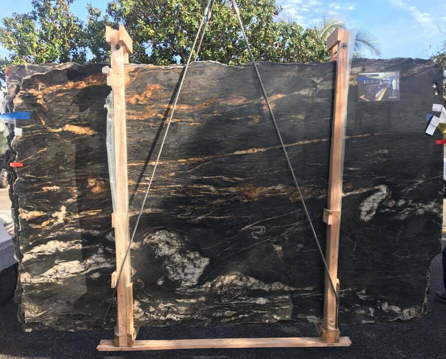 Titanium Black Quartzite Slabs from Brazil
