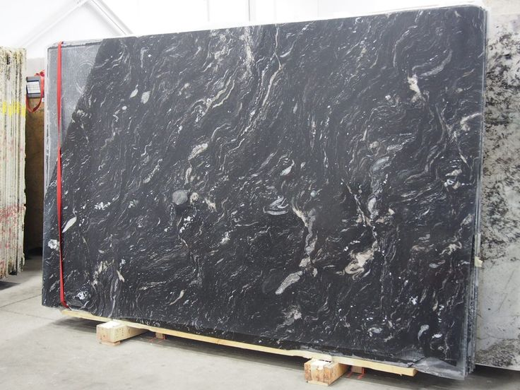 Titanium Granite Black Polished Granite Slabs