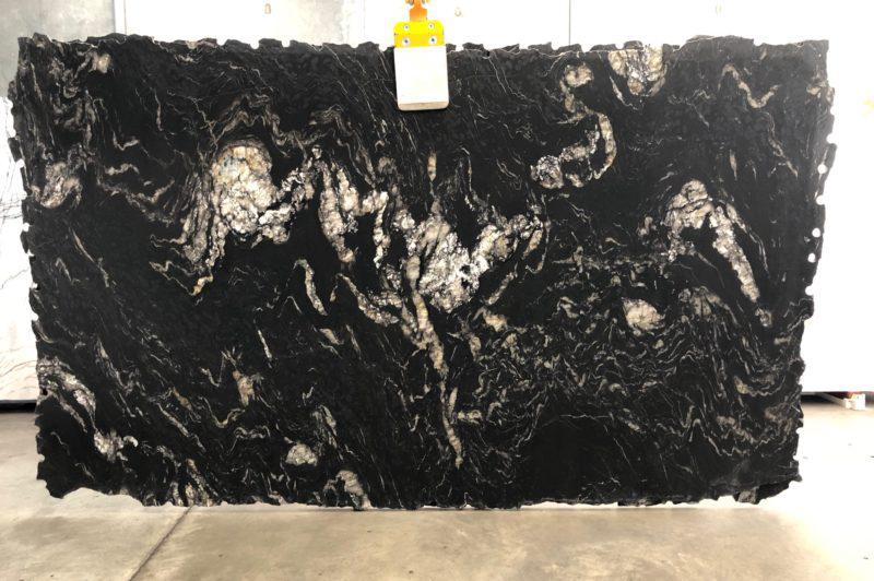 Titanium Polished Black Granite Stone Slabs Competitive Brazil Granite Slabs