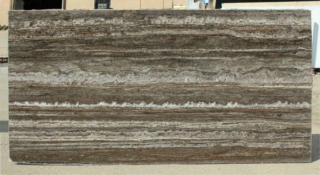Titanium Travertine Brown Natural Stone Slabs