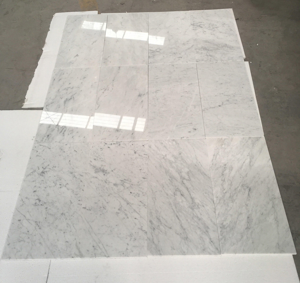 Top Quality Bianco Carrara Marble Tiles Italian White Marble Slabs