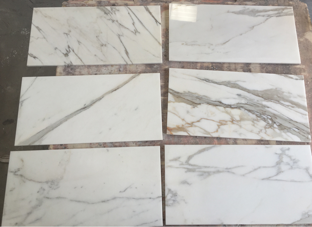 Top Quality Calacatta Gold Marble Tiles White Marble Flooring Tiles