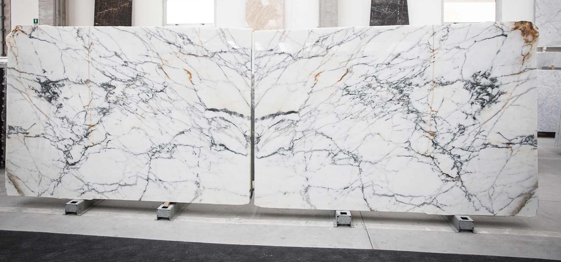 Top Quality Calacatta White Marble Stone Slabs Polished White Marble Slabs