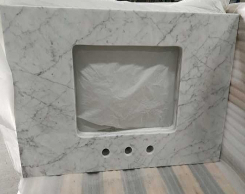 Top Quality Carrara White Marble Bathroom Vanity Tops