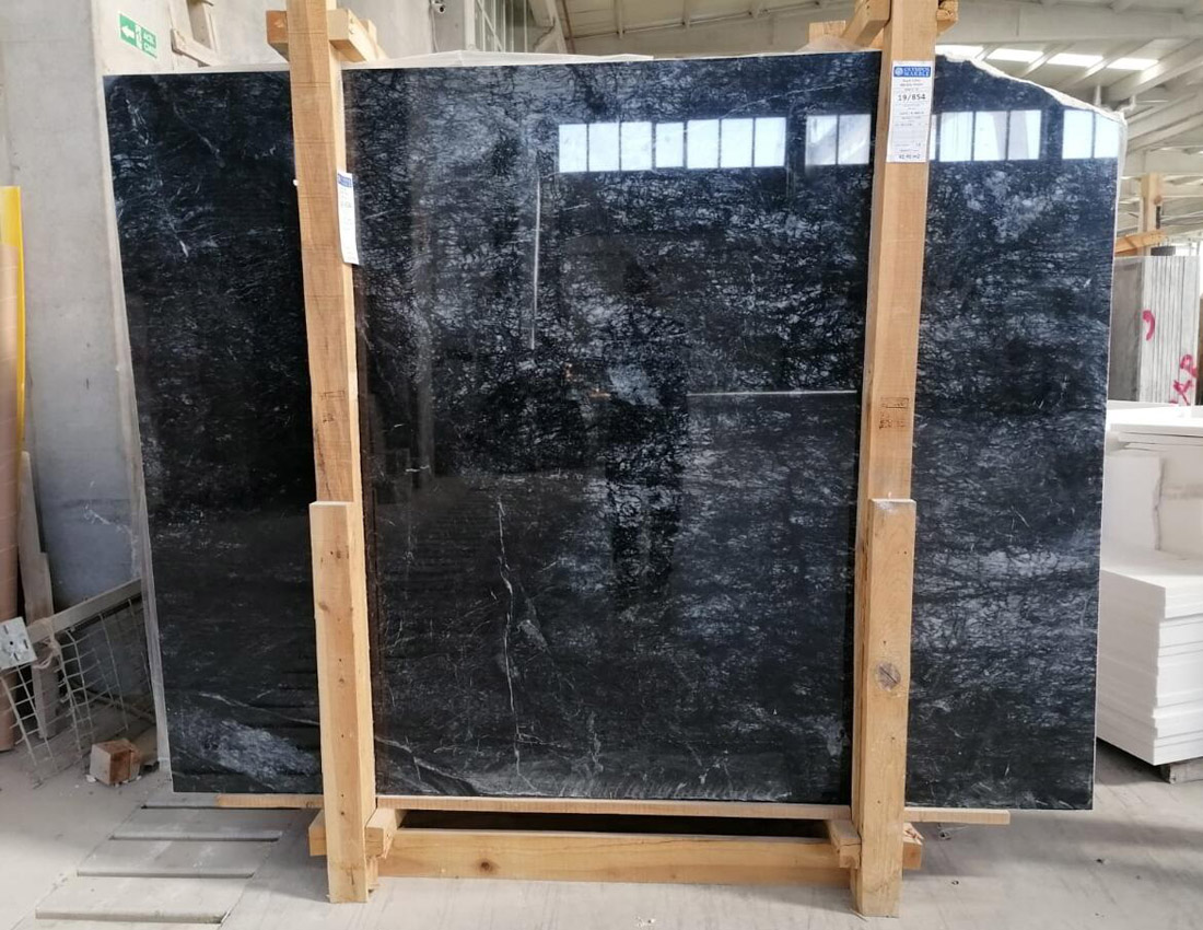 Top Quality Dark Lilac Marble Slabs Polished Black Marble Stone Slabs