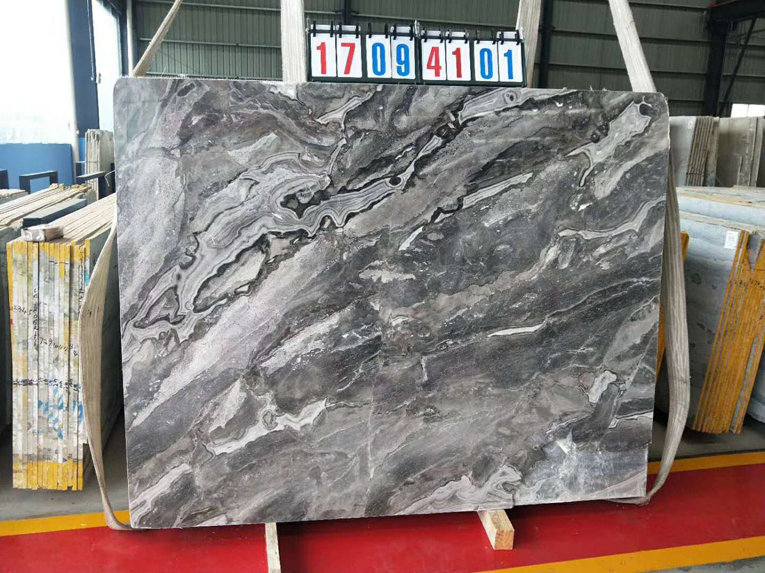 Top Quality Fantasy Grey Marble Slabs Polished Marble Slabs