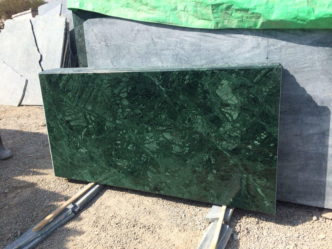 Top Quality Green Marble Tiles Indian Polished Marble Tiles