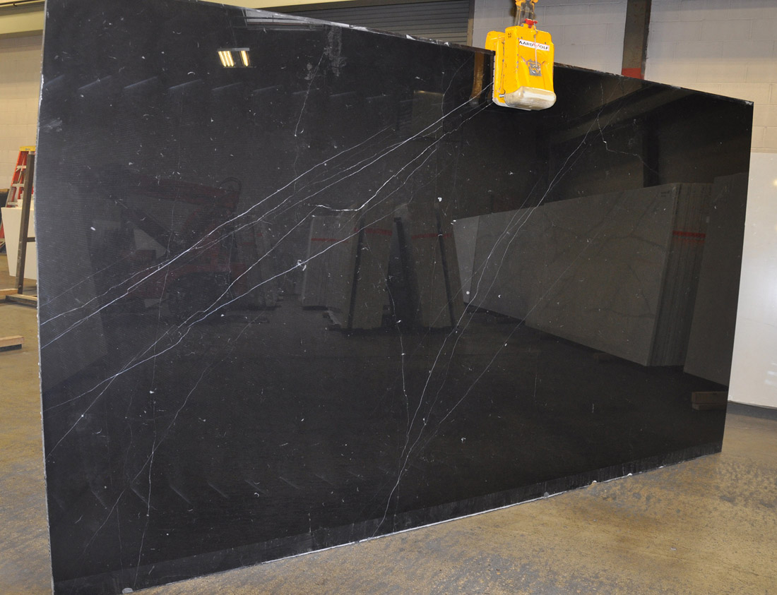 Top Quality Nero Marquina Marble Slabs Black Polished Marble Slabs