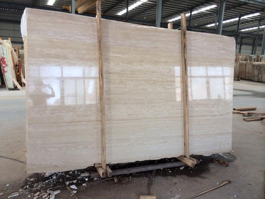 Top Quality Polished White Travertine Slabs