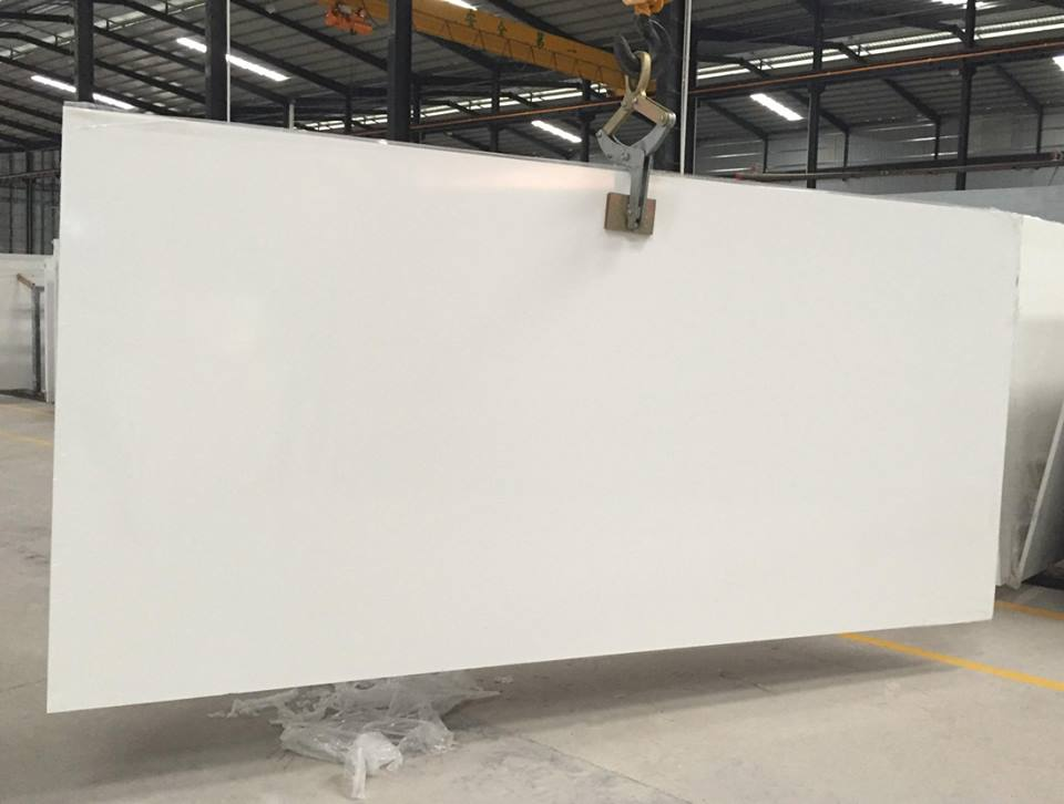 Top Quality Pure White Quartz Slabs