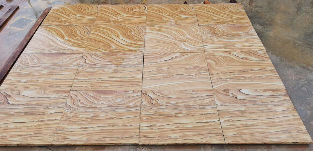 Top Quality Sandstone Tiles Yellow Polished Stone Tiles