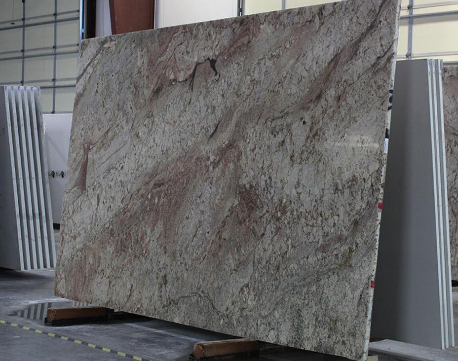 Top Quality Typhoon Bordeaux Granite Stone Slabs for Kitchen Countertops