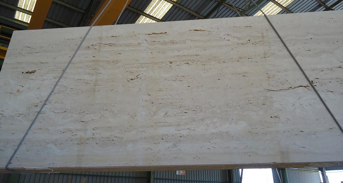 Travertine Classic Stone Slabs Polished Beige Travertine Slabs