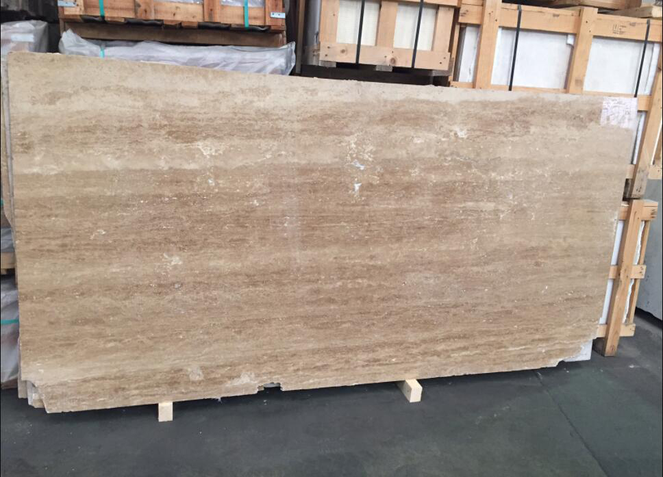 Travertine Classico Dark Slabs Polished Brown Travertine Slabs