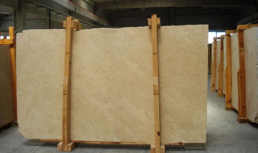 Travertine Crosscut Slabs Polished Beige Travertine Stone Slabs