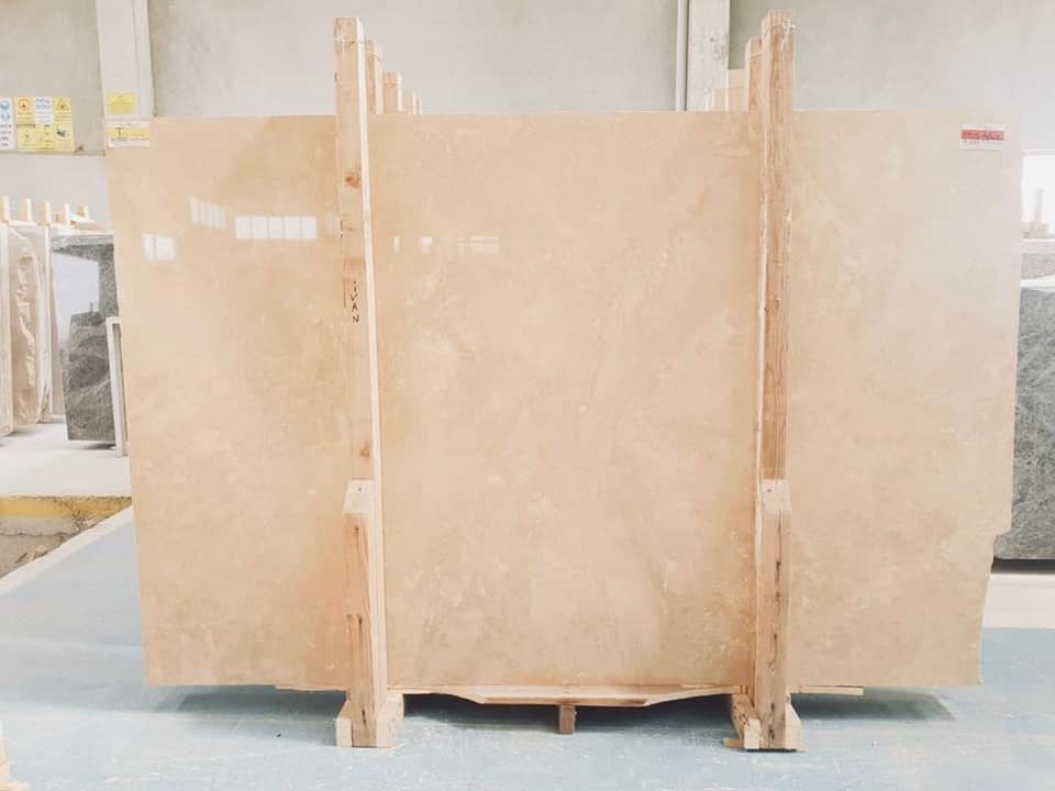 Travertine Light Cross Cut Beige Travertine Slabs