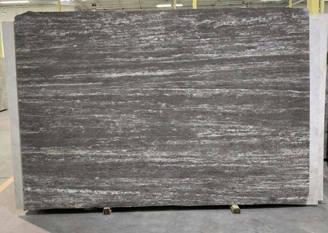 Travertine Silver Slabs Italiano Travertine Grey Polished Slabs