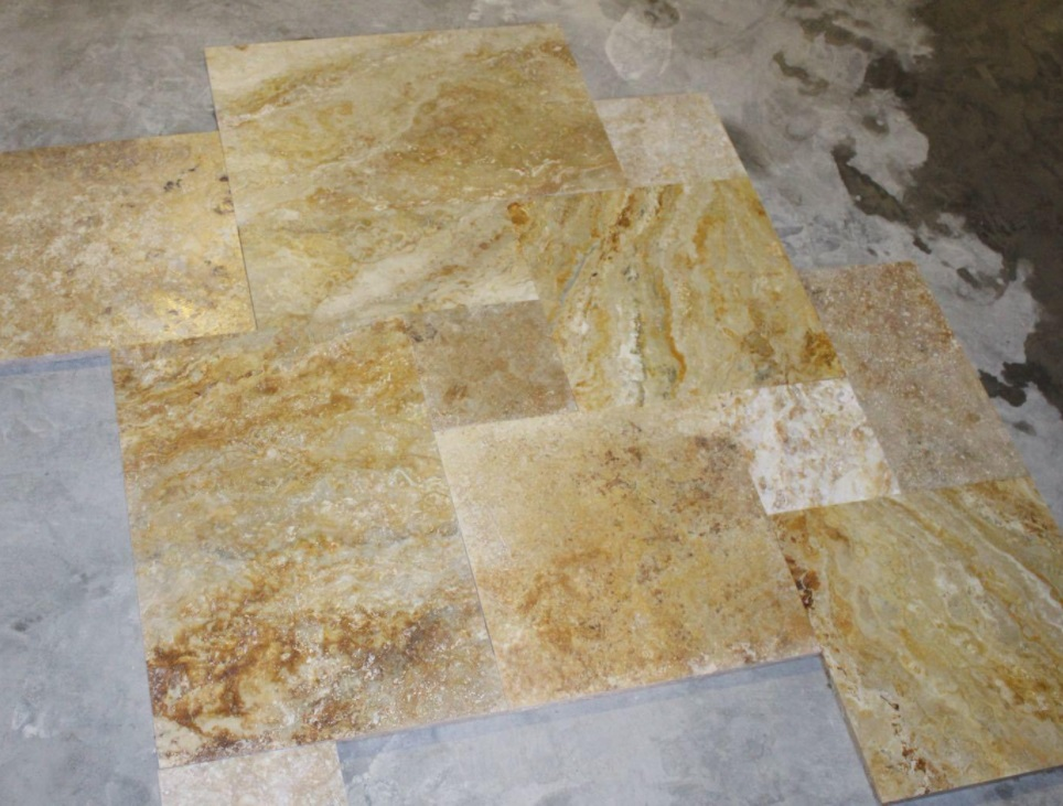 Travertine Tiles Yellow Travertine from Turkey