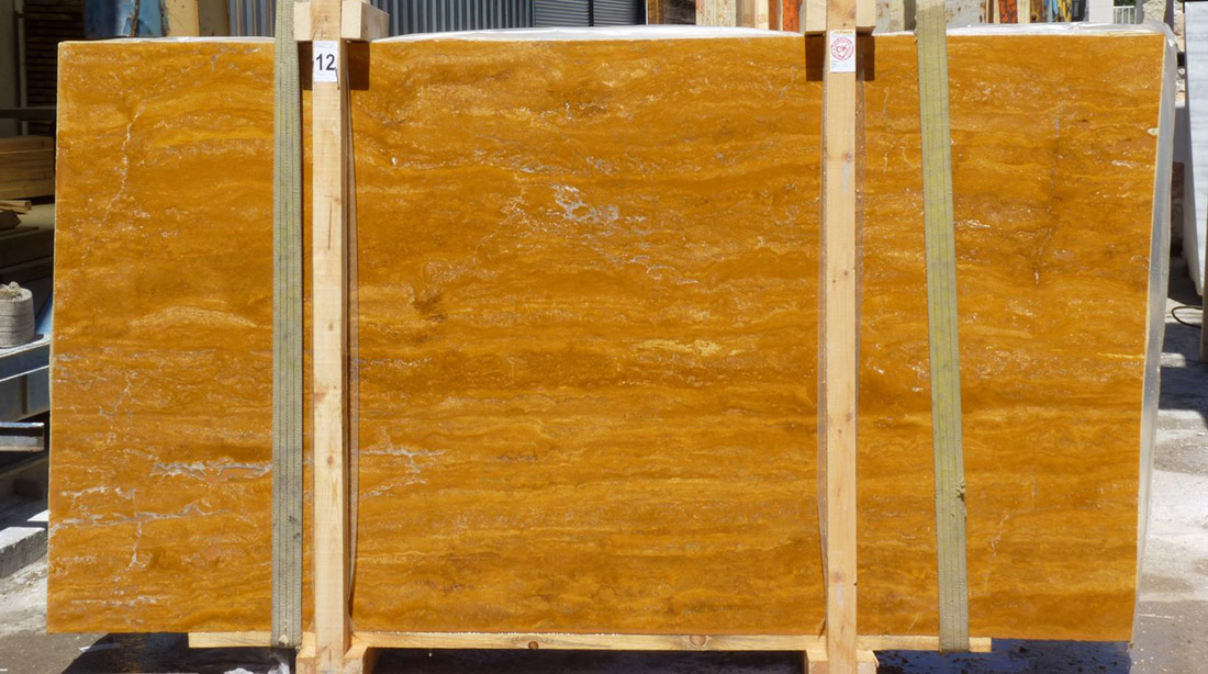 Travertine Yellow Slabs Competitive Yellow Travertine Stone Slabs