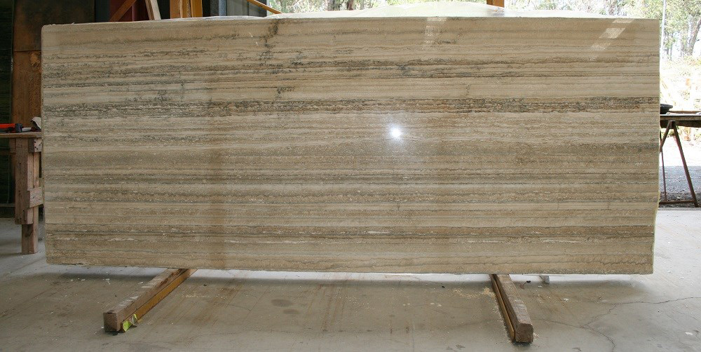 Travertino Dore Beige Polished Travertine Slabs