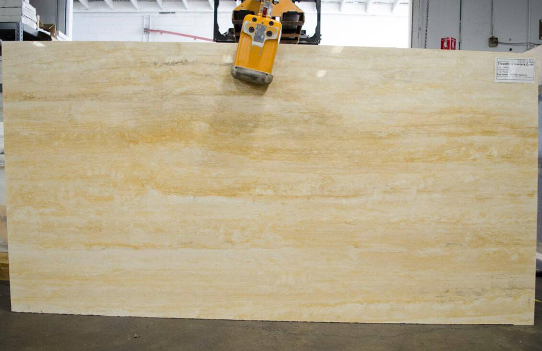 Travertino Navona Gold Polished Travertine Slabs
