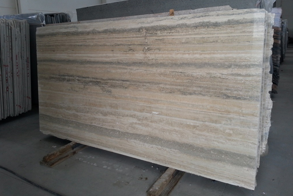 Travertino Ocean Silver Slabs Italian Travertine Slabs